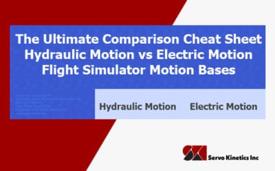 The Ultimate Comparison Cheat Sheet – Flight Simulator Motion Bases – Hydraulic Motion vs Electric Motion
