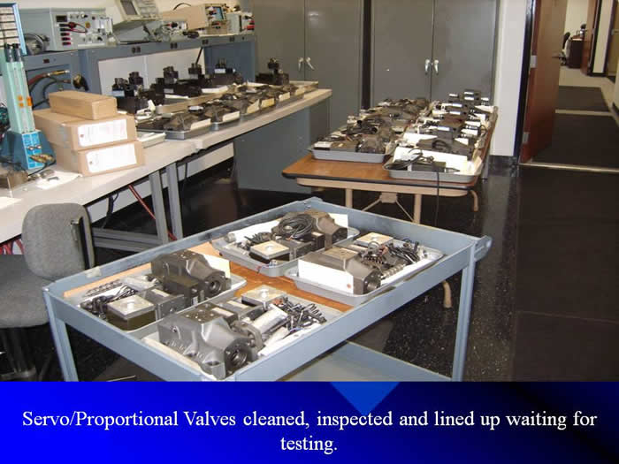 Servo Proportional valves cleaned and inspected